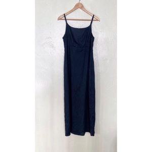 Gap black linen midi dress size 4